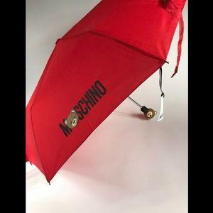 AW17 Moschino Couture Jeremy Scott Red Umbrella